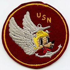 Extremely Rare USN Catapult Unit V-1 Patch as Worn on USS Leyte 1949-1950