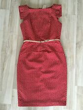 NWT Single Red Polka Dots Woven 'Victoria' Belted Sheath Dress size 6 $215