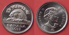 Brilliant Uncirculated 2011 Canada 5 Cents From Mint's Roll