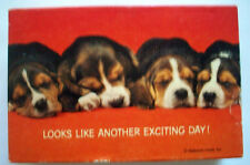 Looks Like Another Exciting Day sleeping beagles dogs  Springbok mini puzzle