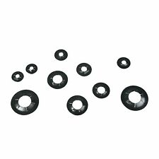 Romak SHAFT RING ASSORTMENT 12Pcs Black, Self-Locking, Suits 4 to 12mm AUS Brand