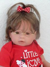 "Reborn 19"" Baby Girl Doll ""Lilly Love Bug""-Down Syndrome Tribute"