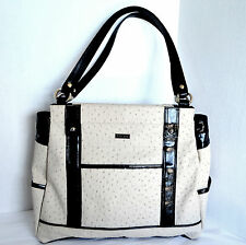 Miche PRIMA BASE BAG &  LACY Shell Ivory Faux Ostrich Satchel Handbag Tote Purse