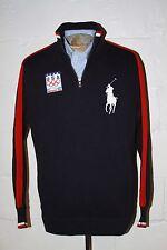 EUC Polo Ralph Lauren 2010 Vancouver Olympics USA Navy Blue Half Zip Sweater M