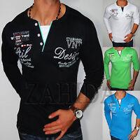 Men's Sweatshirt Long Sleeve T Sweat Shirt Jumper V-neck Club S M L XL XXL New