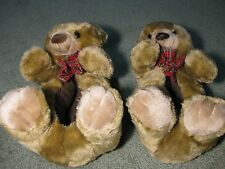 Teddy Bear Slippers - Animal Slippers - Adult, Women's Large 9-10