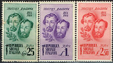 Italy End of Mussolini Era Social Republic Bandiera Brothers stamps 1944 MNH