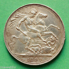 1897 - Queen Victoria - Silver Crown - LXI - SNo39946