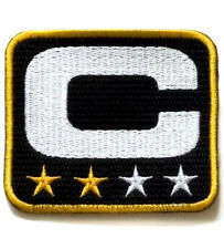 SUPER BOWL 50 CAROLINA PANTHERS TWO-STAR 2-STAR CAPTAIN's JERSEY BLACK PATCH