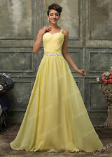Sweatheart Long Formal Evening Ball Gown Party Prom Bridesmaid Dresses Yellow