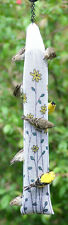 Finch Thistle Sock Sack Nyjer Seed Bird Feeder White Yellow Flowers Hang Chain