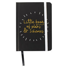 Little Book of Plans & Schemes A6 Notebook Hardback SMALL Note Book Planner