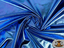 "Spandex METALLIC ROYAL BLUE Fabric / 60"" W / Sold by The Yard"