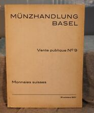 RARE ANTIQUE OLD SWISS suisse COIN MEDAL AUCTION CATALOG MUNZHANDLUNG BASEL 1937