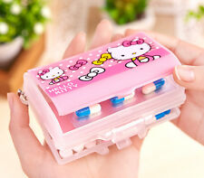 Cute Hello Kitty Pill Box Organizer Medicine Vitamin Storage Case Travel