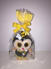 TY STING BEANIE BOOS IN CELLO-NEW, RED MINT TAG, RETIRED-VERSION W/GLITTER EYES