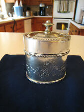Oval Etched Silver Plate Trinket Jewelry Box for that Shabby Chic Cottage Look