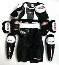 Youth Ice Hockey Protective Gear Kit Set Kids Mite Equipment Pack Bag