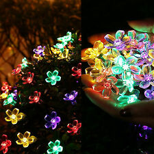 Solar Garden Decor Decorative LED String Holiday Powered Outdoor 50 Stake Lights