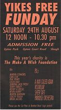 YIKES FUN DAY Rave Flyer Flyers 24/8/90 A5 Upton Park Slough Rare
