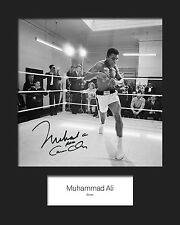 MUHAMMAD ALI - Signed 10x8 Mounted Photo Print - FREE DELIVERY