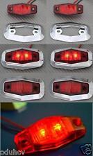 6x LED posteriore ROSSO Cornice cromata luci di posizione 24V per Camion Furgone