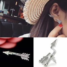 1Pc Creative Bow Arrow Crystal Ear Stud Women's Fashion Earrings Jewelry Gift