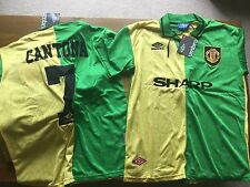 Manchester United Uomo United Newton Heath 92-94 CANTONA 7 Green & Giallo Retrò