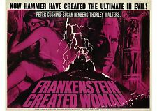 Frankenstein Created Woman - Peter Cushing - Hammer - A4 Laminated Mini Poster