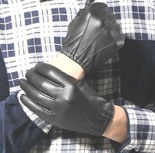 New Men's Police Gloves,Real Leather Brown/Black Driving Gloves Size:S/M/L/XL