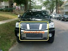 For 2004 2005 2006 2007 NISSAN TITAN/ARMADA Billet Grill Combo logo covered