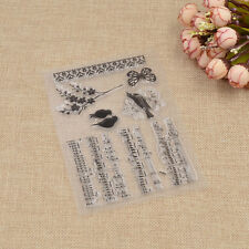 Cute Music Notes Silicone Clear Stamp DIY Scrapbooking Diary Note Decor Craft