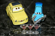 """DISNEY PIXAR CARS 2  """"LUIGI & GUIDO WITH SHAKER AND GLASSES"""" BRAND NEW, LOOSE"""
