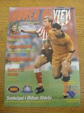 29/10/1994 Sunderland v Oldham Athletic  . Item appears to be in good condition