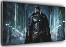 Batman in the Rain Panoramic Wall Art Canvas Print XXL 4.5 ft wide x 2 ft high