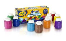 Crayola 10 Ct. Washable Kids Paint, 2-Oz. Bottles, Assorted Colors NEW