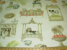"""~3 1/8 YDS~P KAUFMANN~""""BEST IN SHOW DOGS""""~COTTON UPHOLSTERY FABRIC FOR LESS~"""