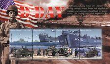 WWII D-Day Landing Craft Ship Stamp Sheet/LST Sherman Tank/Blimp/Armored Car)