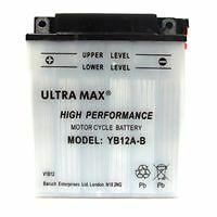 ULTRAMAX YB12A-B, 12V 12AH 135A MOTORCYCLE MOTORBIKE QUAD BIKE JET SKI BATTERY