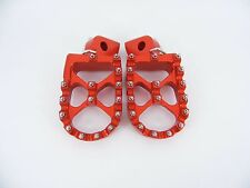 KTM  Foot pegs Footrests WIDE Anodized ORANGE EXC XC SX SXF 125-530