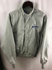 Vintage Klenzade Jacket Dunbrooke USA Made LARGE Full Zip Gray Circa 80's