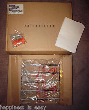 NIB Pottery Barn Brayden Magazine Towel Rack Bathroom Bath Satin Nickel NEW