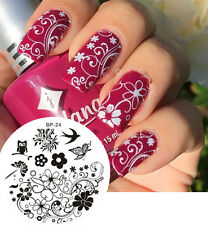 BORN PRETTY #24 Charming Spring Nail Art Stamp Stamping Template Image Plate