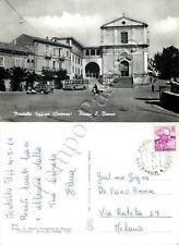 Cartolina di Montalto Uffugo, chiesa e ricreatorio - Cosenza, 1965
