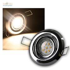 lot de 3 MR11 LED spot encastré CHROME par 8 Puissance SMD LED blanc chaud,incl.