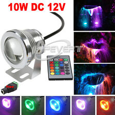12V Bombillas 10W RGB LED Flood Light Lamp Underwater Pond Fountain Spotlight