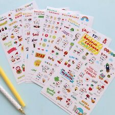 6sheet pig stationery diary Filofax Schedule  Notebook Deco transparent sticker