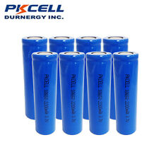 ICR 18650 8pcs Rechargeable 3.7V Battery Unprotected Flat Top for Weapon Light