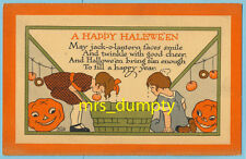 HALLOWEEN Bobbing for Apples~RH LORD #3010 Postcard #2
