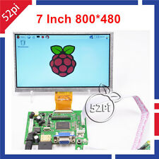 "7"" inch 800*480 TFT LCD Display Driver Board HDMI VGA 2AV for Raspberry Pi 3"